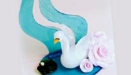 Isomalt Swan