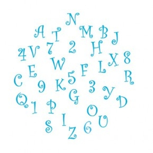 Funky Tappits Uppercase Alphabet and Numbers